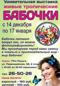 """Выставка """"Живые тропические бабочки"""" в Радуге"""